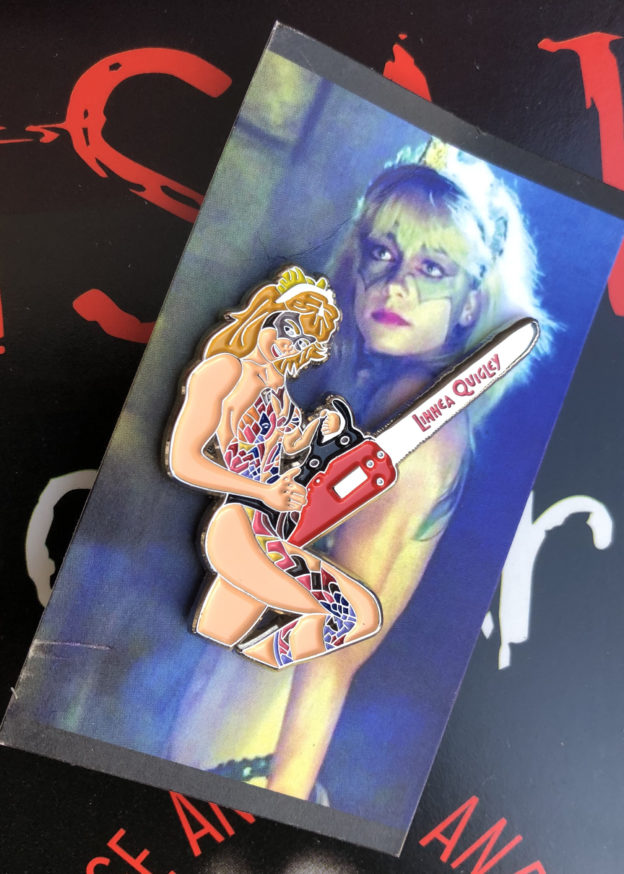 Linnea Quigley Hollywood Chainsaw Hookers Pin