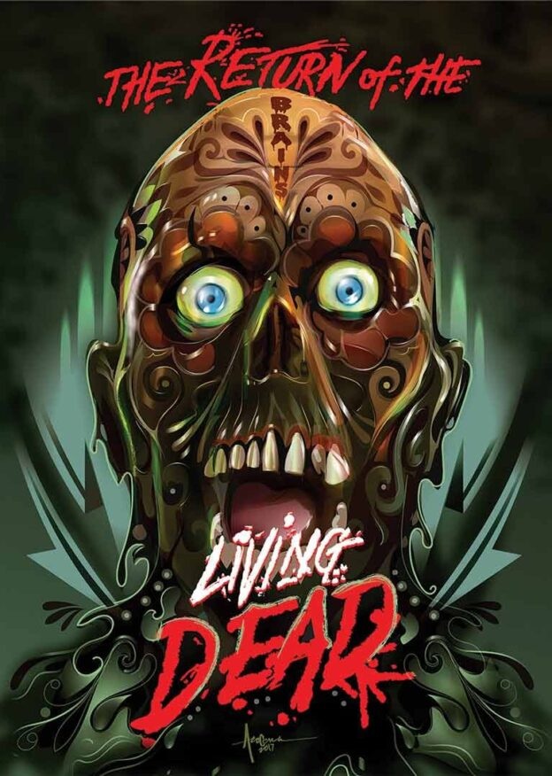 """""""Return of the Living Dead"""" Limited Edition, Cover by Orlando Arocena (Widescreen) DVD"""